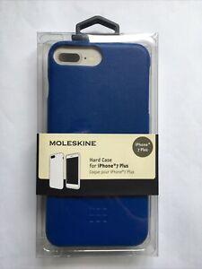 MOLESKINE PREMIUM HARD CASE FOR IPHONE 7+/8+ BLUE SHOCKPROOF COVER BRAND NEW