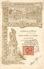 2107) L'EREMO DELLA VERNA (AREZZO) S. FRANCESCO E LE TORTORELLE. VIAGGIATA.