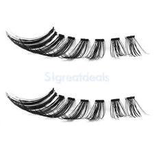 Black Real Human Hair Natural Flare Cluster Long False Eyelashes Eye Lashes