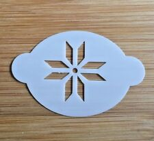 Face paint stencil reusable washable jumper snowflake Mylar 2.5 inch x 1.75