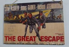 The Great Escape Vintage Retro Movie Poster Wooden Steve McQueen Garner Sign
