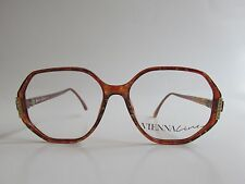 Vienna Line 1581 40 Rare Vintage Tortoise Octagon Jewel Eyeglasses Austria