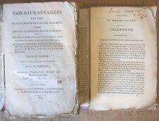 MORISOT TOUS LES OUVRAGES DES BATIMENTS 1820 MACONNERIE CHARPENTE COUVERTURE