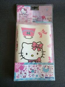 50 HELLO KITTY Wall Girls Bedroom Room Decoration Glitter Stickers - DecoFun NEW