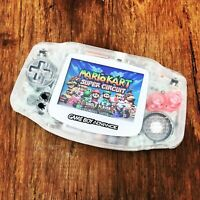 Nintendo Gameboy Advance GBA 101 NES Clear Handheld Gaming Console BACKLIT IPS
