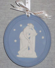 Wedgwood Annual Christmas Blue Plaque Ornament 2014 New In Box