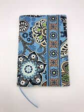 Vera Bradley Soft Book Cover BALI BLUE Ribbon Book Mark 7.5