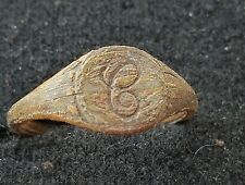 Beautiful post medieval lettered ring found in England uncleaned condition L37v