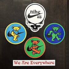 Nike Sb Grateful Dead Bear Dunk Stickers Full Set Of 5 Orange Green Yellow Ftc