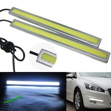 1Pair 2Pcs 14cm Led Car Styling Daytime Running Day Light Cob Auto Drl Fog Lamp