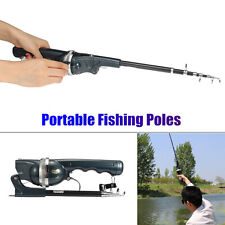 Mini Folding Telescopic Saltwater Rods Suit Fishing Poles Portable with Line