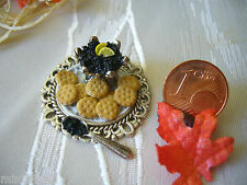 =1 KAVIAR-CRÄCKER-PLATTE= Puppenstube Fimo Lebensmittel Miniatur 1:12/1:10 by HW