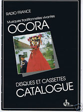 CATALOGUE DISQUES OCORA