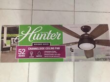 Hunter 52 in. Ceiling Fan LED Lights Noble Bronze Indoor Outdoor Remote Control