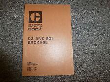 Caterpillar Cat D3 & 931 Backhoe Parts Catalog Manual Book S/N 87U & 88U