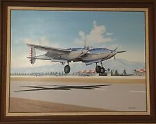 Stan Stokes Original Painting of a XP-38 Superb Condition! **Estate Sale**