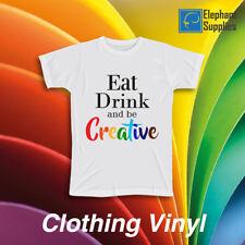 More details for t shirt flex vinyl heat press garment clothing transfer textile premium pu htv