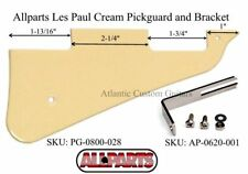 New Allparts Les Paul Cream Pickguard and Nickel Bracket. ACG-LP-CPG-BKT