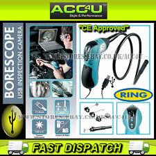 Anillo rbs50 Boroscopio inspección herramienta Cámara Usb Con Luz Led & Sonda Flexible