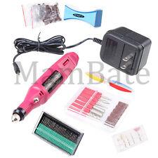 Nail Art Drill Kit Electric File Bands Buffer 30 Bits Acrylic Pen Shape Machine
