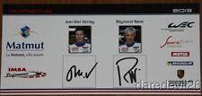 2013 IMSA Performance Matmut Porsche 911 GT3 RSR LMGTE AM signed WEC postcard