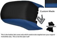 BLACK & ROYAL BLUE CUSTOM FITS BMW R 1200 RT REAR PASSENGER LEATHER SEAT COVER