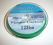 Sakuma Fluoro Carbon - 50m Spool - 12lbs
