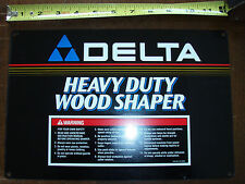 "NOS Delta Heavy Duty Wood Shaper 12"" Nameplate p/n 432021370005"