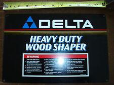 "Nos Delta Heavy Duty Wood Shaper 12"" Nameplate p/n 432021370005"