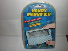 Handy Magnifier BLUE Size of a Name Card N.I.P. led does not work