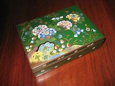ANTIQUE  JAPANESE CLOISONNE ENAMEL BOX 1920s