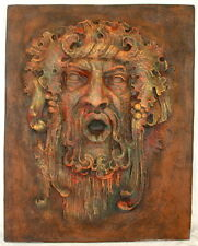 Bacchus-Dionysus Large Wall Home Garden Decor Plaque