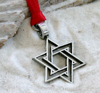 HANUKKAH STAR OF DAVID JEWISH Pewter Christmas ORNAMENT
