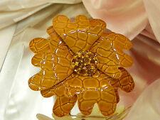 Big & Beautiful Vintage 1950s Rhinestone Enamel Flower Brooch  688H