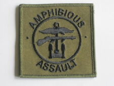 Amphibious Assalto, Royal Marines ,TRF,Patch, oliva