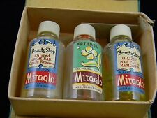 Extremely Rare Antique 1930's Miraglo Beauty Shop Supply Kit In Case