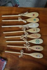 Decorative Christmas spoons Set of 8 with eyes for hanging 12 inch long