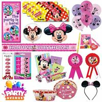 Minnie Mouse Party Tableware Decorations Balloons Favours