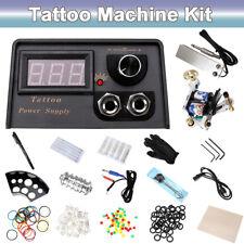 Beginner Complete Tattoo Kit Tattoo Machine Gun Set LCD Power Supply+Accessaries