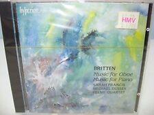 Britten MUSIC FOR OBOE, PIANO, S Francis, M Dussek, Delme Quartet, Hyperion NEW