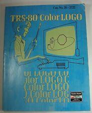 TRS-80 Computer Color LOGO MANUAL Book Language Radio Shack # 26-2722