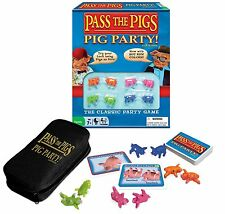 Classic Party Edition Pass The Pigs 8 Pig-Dice Complete Family Game Winning Case