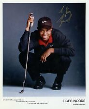 TIGER WOODS - Great Golfer - Signed Color 8x10 Photo!