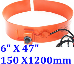 "6"" X 47"" 150 X1200mm 250W Tank Drum Band Barrel Heater with Adjust Control"