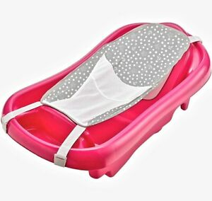 The First Years Newborn to Toddler Tub with Bath Sling, pink