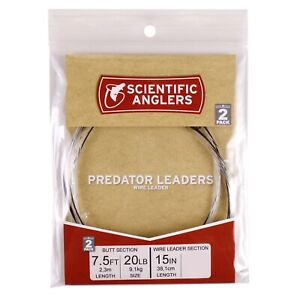 FREE SHIP OPTIONS Scientific Anglers Absolute Predator Knottable Wire Tippet