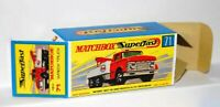 Matchbox Lesney No 71 FORD HEAVY WRECK TRUCK  Empty Box style G