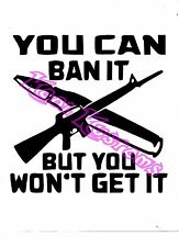 VINYL DECAL STICKER YOU CAN BAN IT BUT...GUN RIGHTS...NRA...CAR TRUCK WINDOW