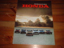 HONDA CIVIC MK1 AND ACCORD USA SPEC SALES BROCHURE 1978