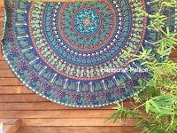tischdecke patchwork wandbehang indien bestickt rund ethno orient bunt ebay. Black Bedroom Furniture Sets. Home Design Ideas